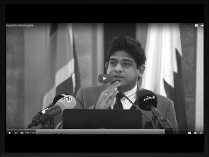 Minister of State for Foreign Affairs Hon. Vasantha Senanayake