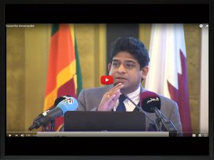 Minister of State for Foreign Affairs Hon. Vasantha Senanayake